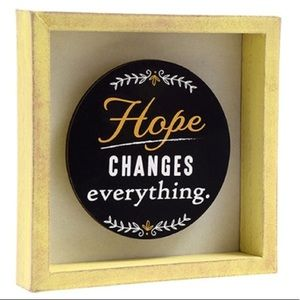 Hope changes everything shadow box